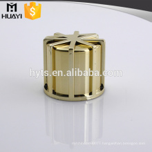 golden color zamac metal perfume cap zinc